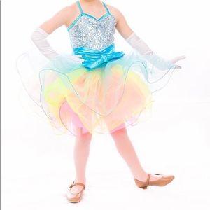 Weissman dance costume. Fluorescent tutu w/sequin